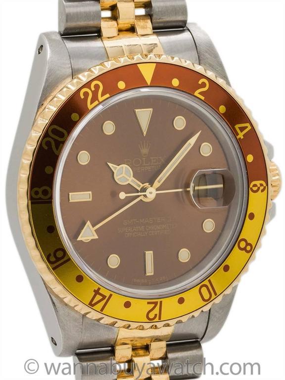 Rolex GMT II ref# 16713 SS/18K YG circa 1991 3