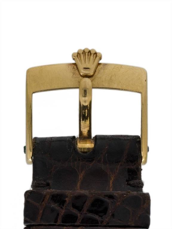 Rolex Yellow Gold Datejust Forest Green Dial Self Winding Wristwatch circa 1984 4