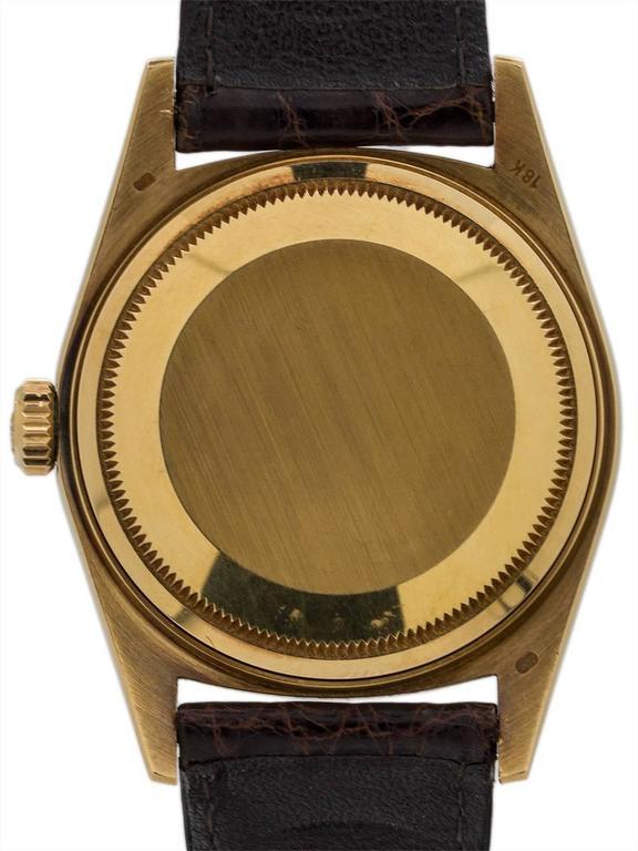 Rolex Yellow Gold Datejust Forest Green Dial Self Winding Wristwatch circa 1984 5