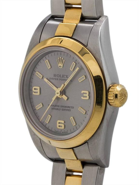 Rolex Yellow Gold Stainless Steel Oyster Perpetual Explorer Wristwatch 2