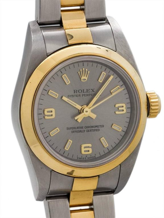 Rolex Yellow Gold Stainless Steel Oyster Perpetual Explorer Wristwatch 3