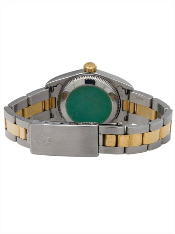 Rolex Yellow Gold Stainless Steel Oyster Perpetual Explorer Wristwatch 4