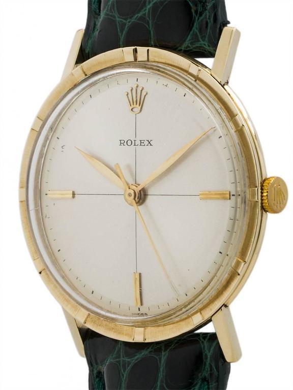 Rolex Yellow Gold Manual Wind Dress Wristwatch Model 8469, circa 1960s 3