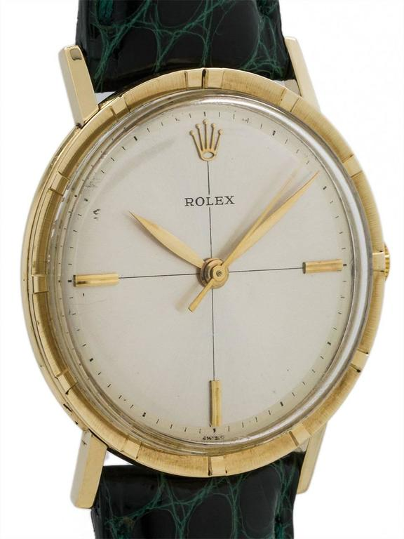 Rolex Yellow Gold Manual Wind Dress Wristwatch Model 8469, circa 1960s 2