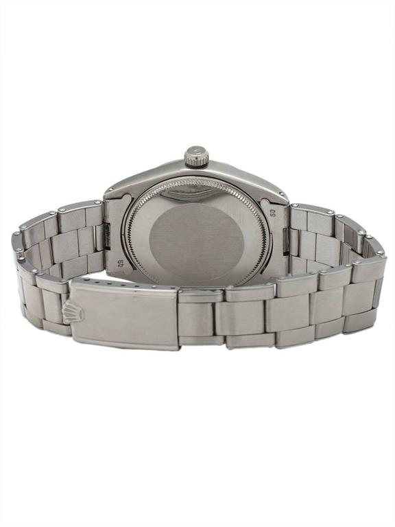 Rolex stainless steel Oyster Perpetual Airking Tropical Dial Wristwatch, c1968 In Excellent Condition For Sale In West Hollywood, CA