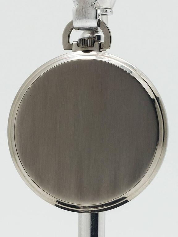 Omega Stainless Steel Industrial Design Era Pocket Watch, circa 1930s 4