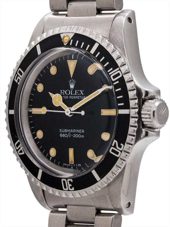 Rolex Stainless Steel Submariner Self Winding Wristwatch Ref 5513, circa 1988 2