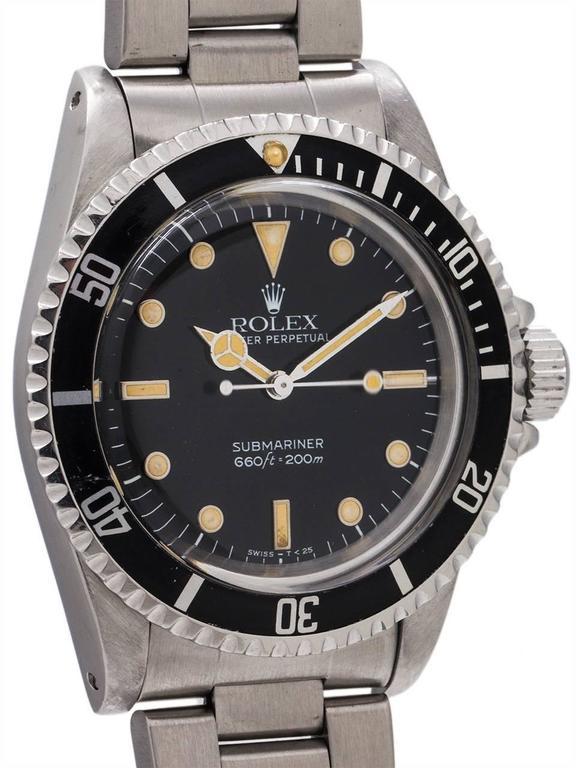 Rolex Stainless Steel Submariner Self Winding Wristwatch Ref 5513, circa 1988 3