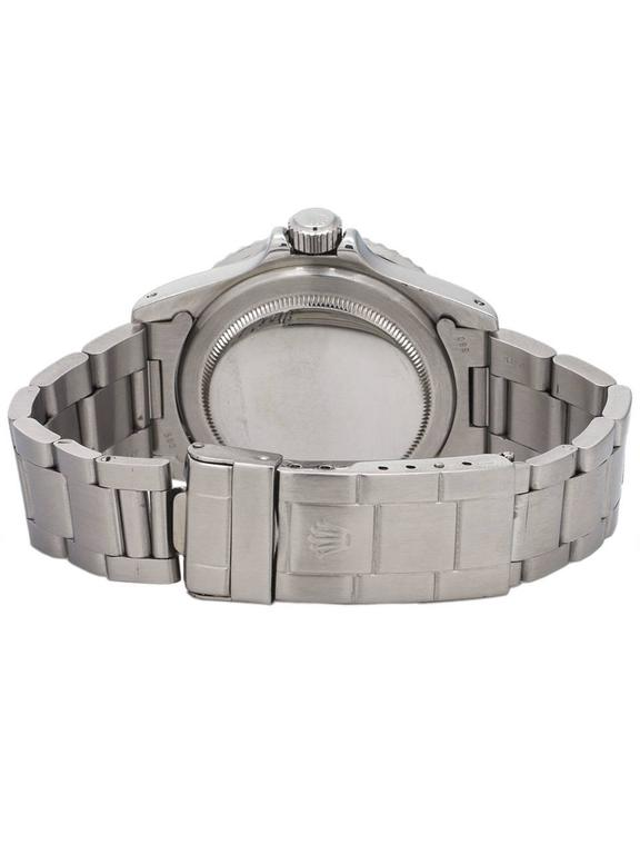 Rolex Stainless Steel Submariner Self Winding Wristwatch Ref 5513, circa 1988 4