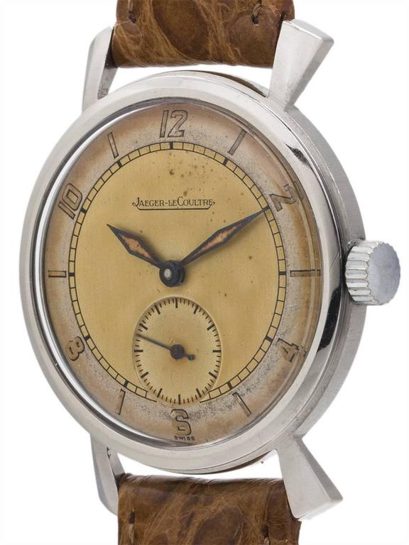 Jaeger-LeCoultre Dress Model Manual Wind Wristwatch, circa 1940s 2