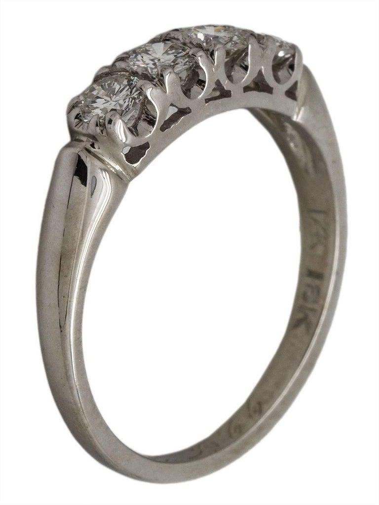 Vintage 18 Karat Diamond Wedding Band 0 60 Carat G Vs2