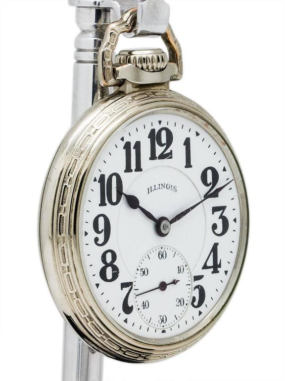Illinois 16-S Bunn Special 60 Hour Pocket Watch, circa 1929 In Excellent Condition For Sale In West Hollywood, CA