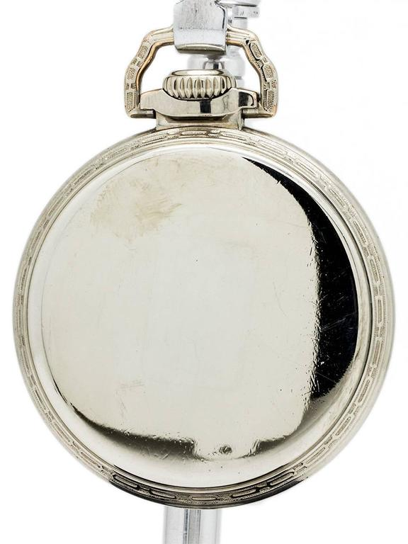 Men's Illinois 16-S Bunn Special 60 Hour Pocket Watch, circa 1929 For Sale
