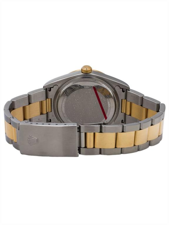 Rolex Yellow Gold Stainless Steel Oyster Perpetual Wristwatch, circa 2003 4