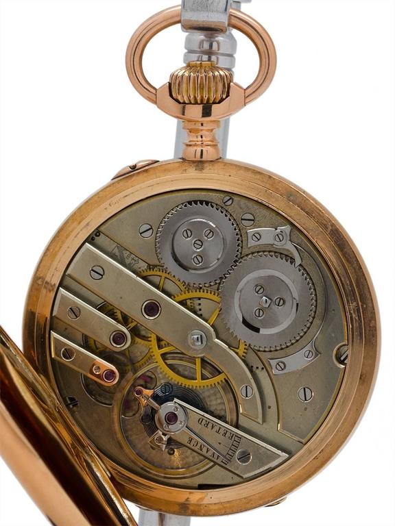 Henry Moser Yellow Gold Hunting Case Pocket Watch, circa 1900 7