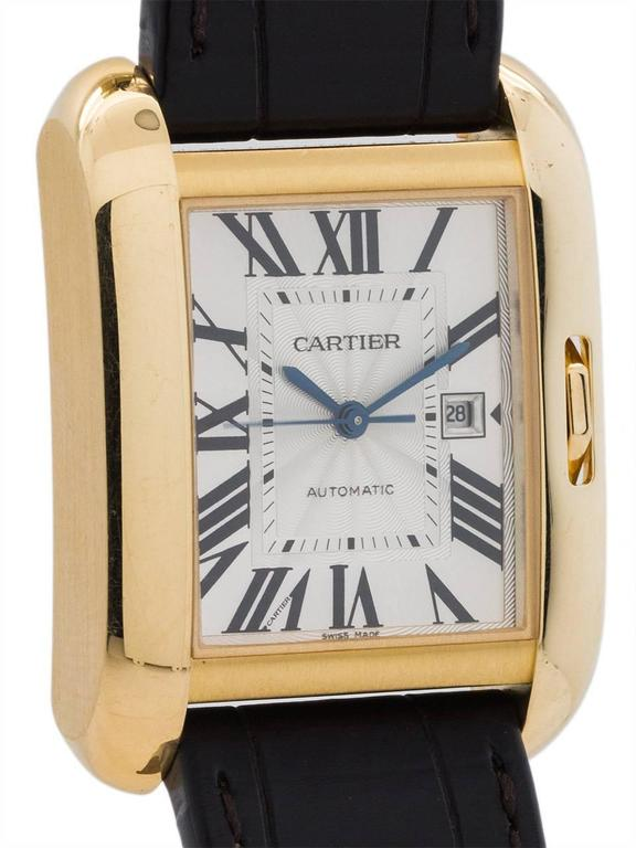 Cartier Yellow Gold Tank Anglaise Automatic Wristwatch Ref 3509, circa 2015 In Excellent Condition For Sale In West Hollywood, CA
