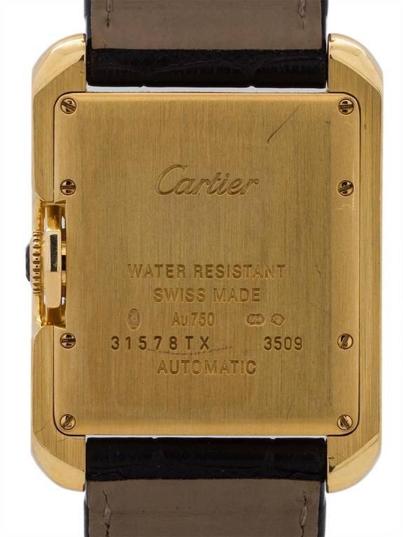 Men's Cartier Yellow Gold Tank Anglaise Automatic Wristwatch Ref 3509, circa 2015 For Sale