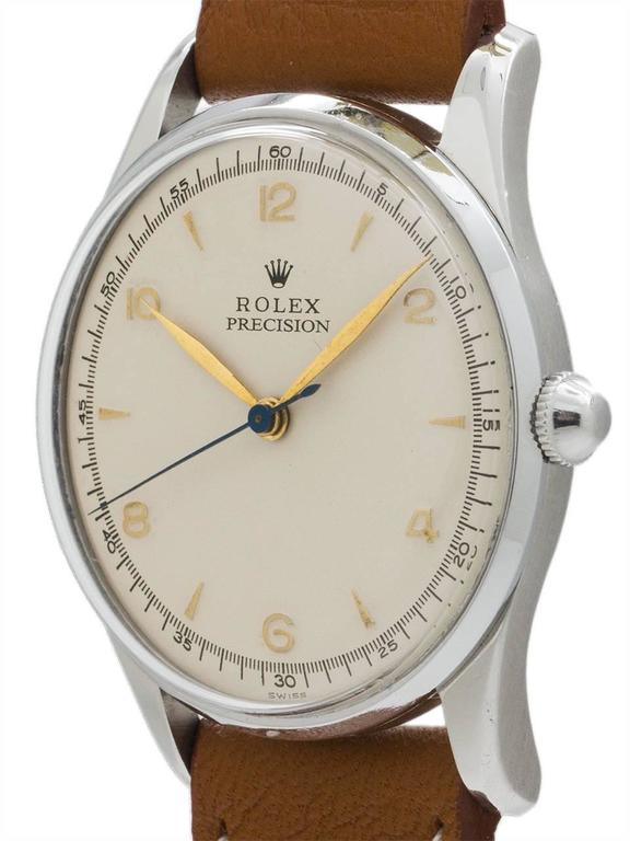 Rolex Stainless Steel Dress Model manual wind wristwatch Ref 5517, circa 1950s 3