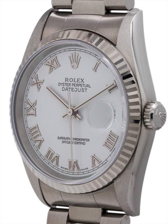 Rolex Stainless Steel Datejust self winding wristwatch Ref 16234, circa 1996 2