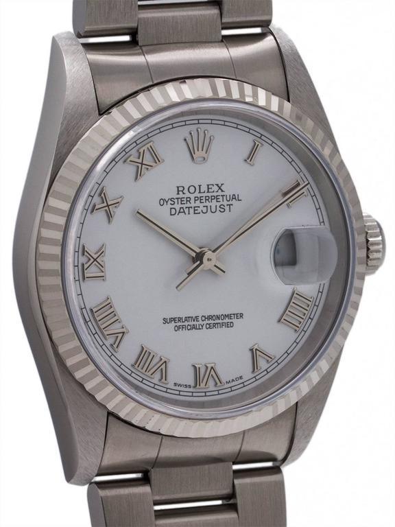 Rolex Stainless Steel Datejust self winding wristwatch Ref 16234, circa 1996 3