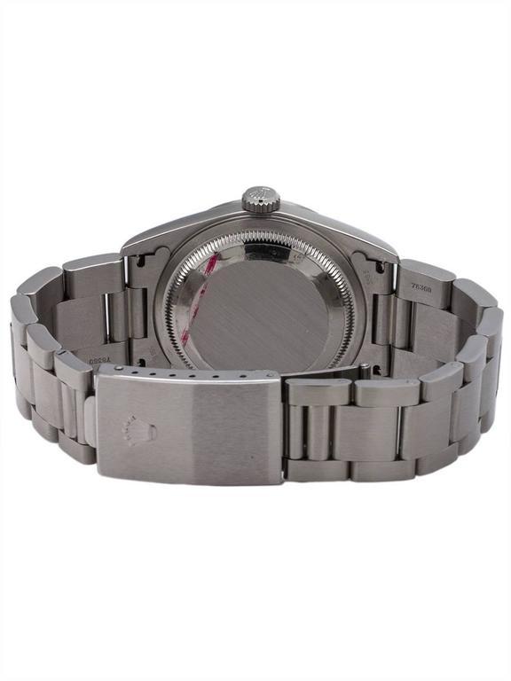 Rolex Stainless Steel Datejust self winding wristwatch Ref 16234, circa 1996 4