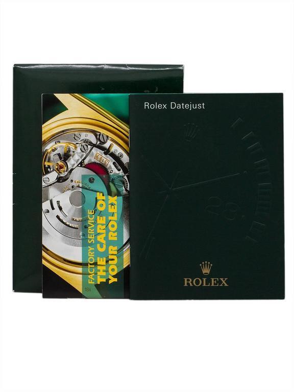Rolex Stainless Steel Datejust self winding wristwatch Ref 16234, circa 1996 6