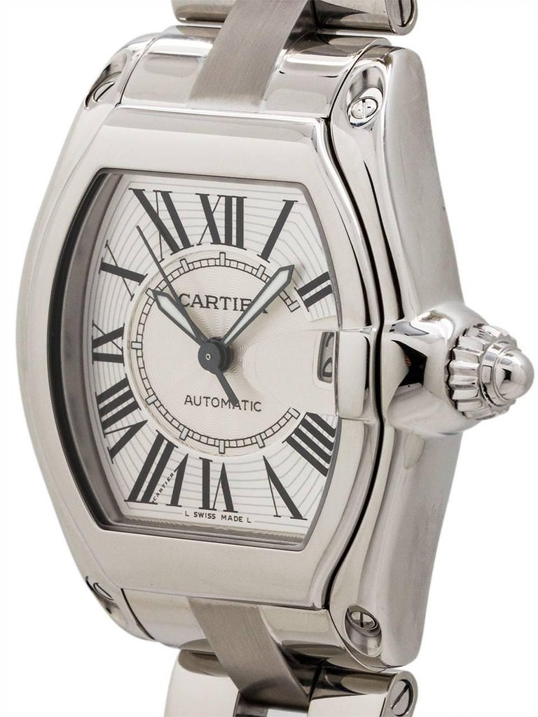 Cartier Stainless Steel Roadster automatic wristwatch, circa 2000s 2