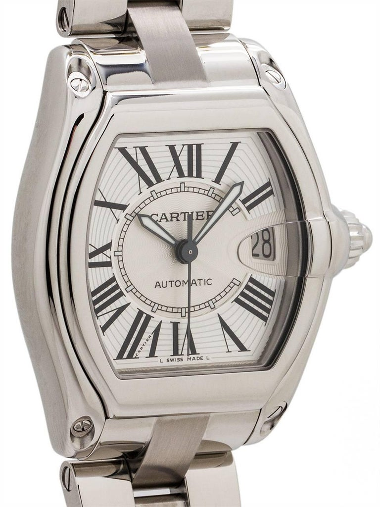 Cartier Stainless Steel Roadster automatic wristwatch, circa 2000s 3