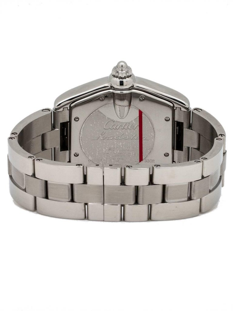 Cartier Stainless Steel Roadster automatic wristwatch, circa 2000s 4