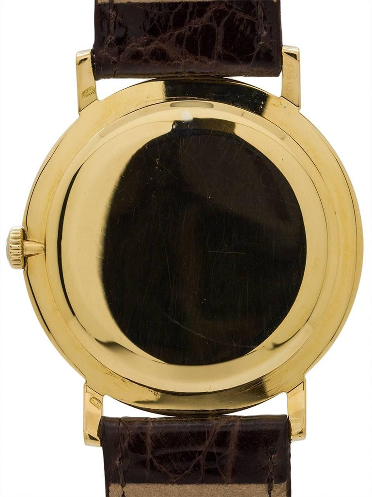 Men's Omega Yellow Gold Manual Wind Dress Wristwatch, circa 1958 For Sale