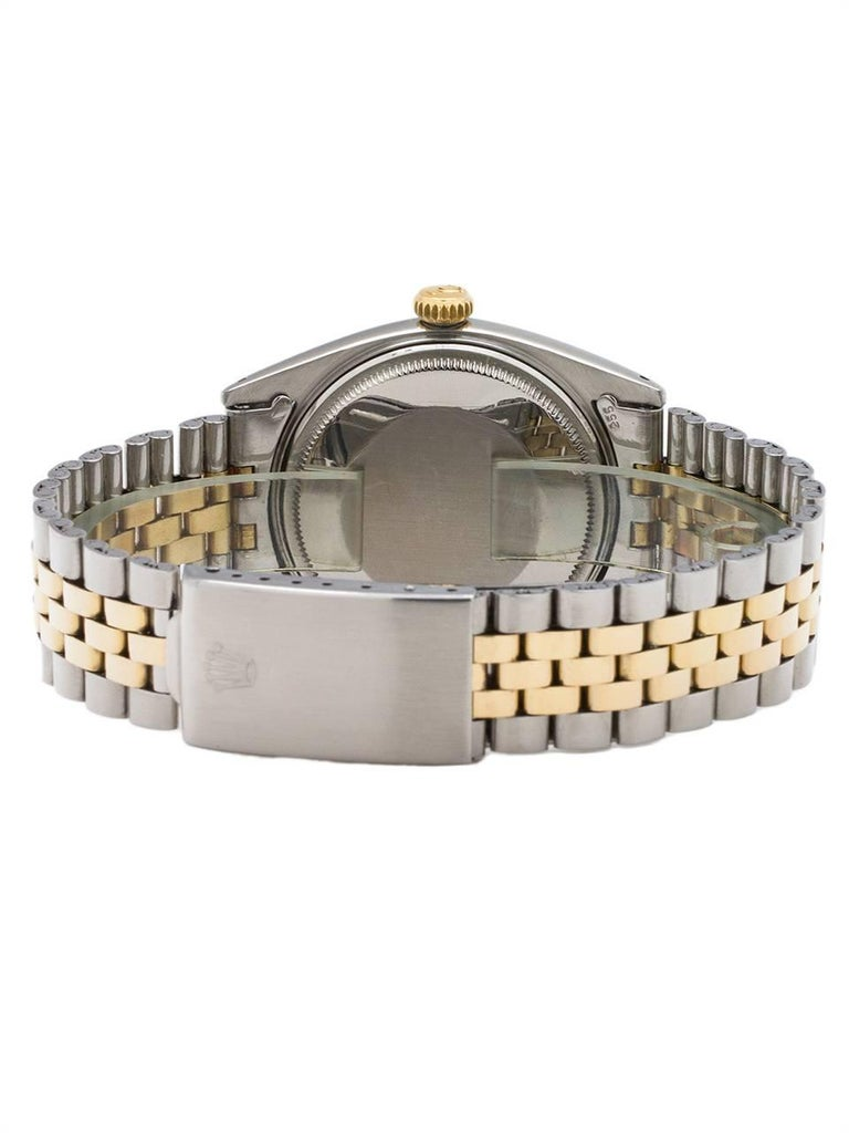 Men's Rolex Yellow Gold Stainless Steel Datejust Automatic Wristwatch, circa 1960 For Sale