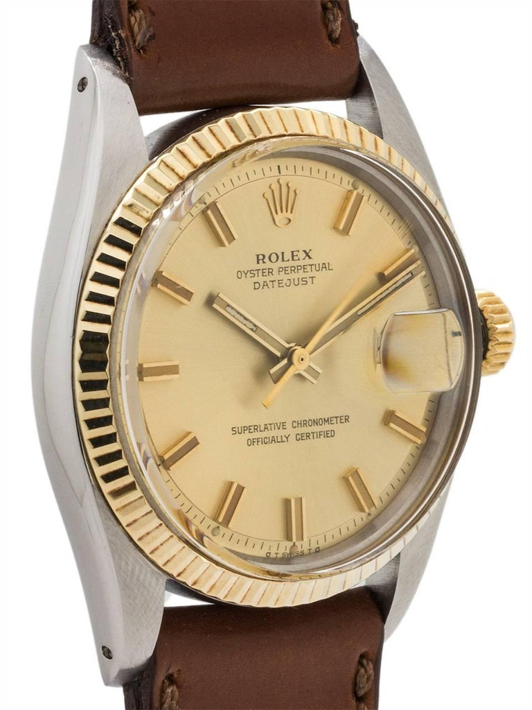 Rolex Yellow Gold Stainless Steel Datejust Automatic Wristwatch, circa 1973 3