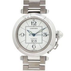 Cartier Stainless Steel Pasha C Big Date Automatic Wristwatch, circa 2000s