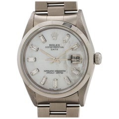 Rolex Stainless Steel Oyster Perpetual Baguette Dial Self Winding Wristwatch