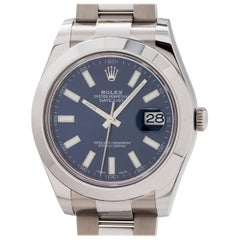 Rolex stainless steel Blue Dial Datejust II self winding wristwatch c2016
