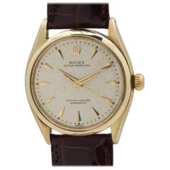 Rolex Yellow Gold Oyster Perpetual self winding wristwatch Ref 6564, circa 1960