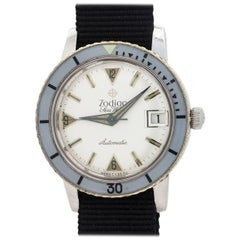 Zodiac Stainless Steel Seawolf Self Winding Wristwatch, circa 1960s