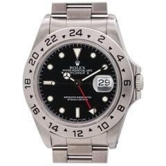 Rolex Stainless Steel Explorer II Tritium Indexes Wristwatch Ref 16570, c 1992