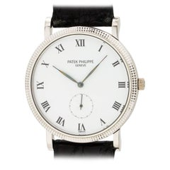 Patek Philippe White Gold Hobnail Bezel Manual Wind Wristwatch Ref 3919