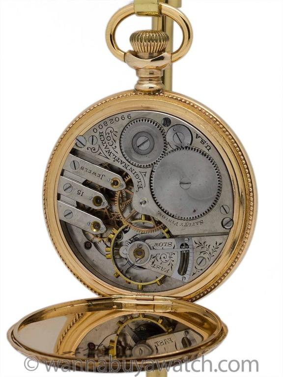 Elgin Yellow Gold Large Hunting Case Pocket Watch, circa 1902 4
