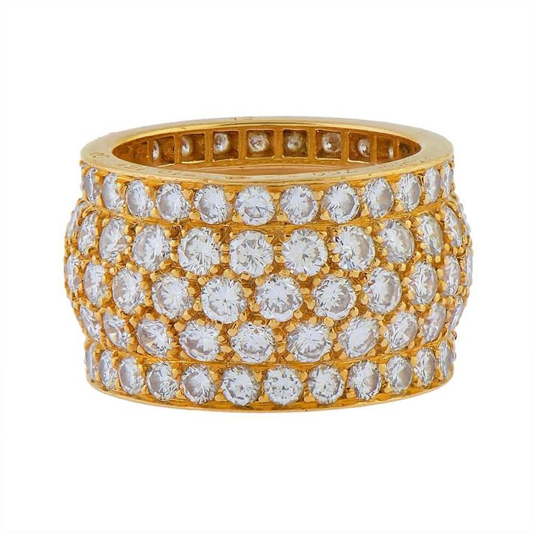 Cartier Diamond Gold Eternity Ring