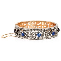 Antique Sapphire and Diamond Bangle by Mellerio