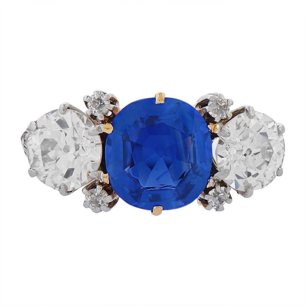 J E Caldwell And Co Kashmir Sapphire Engagement Ring For