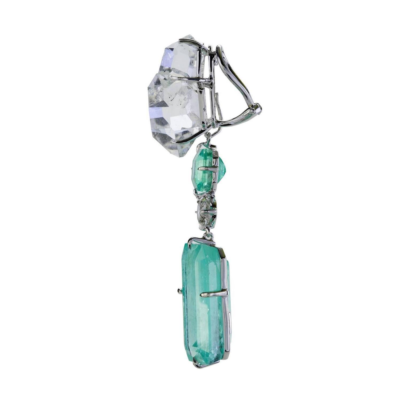 Rockstar III Emerald Earrings For Sale at 1stdibs
