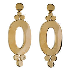 Oval Gold Circle Ear Clips