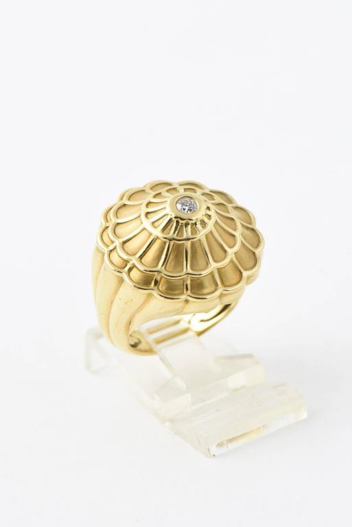 Women's Carrera y Carrera Afrodita Diamond & Gold Flower Cocktail Ring For Sale