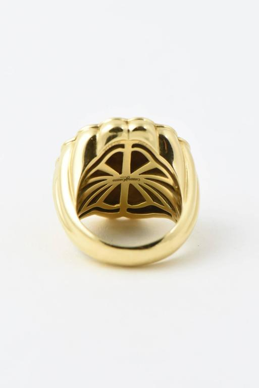 Carrera y Carrera Afrodita Diamond & Gold Flower Cocktail Ring For Sale 2