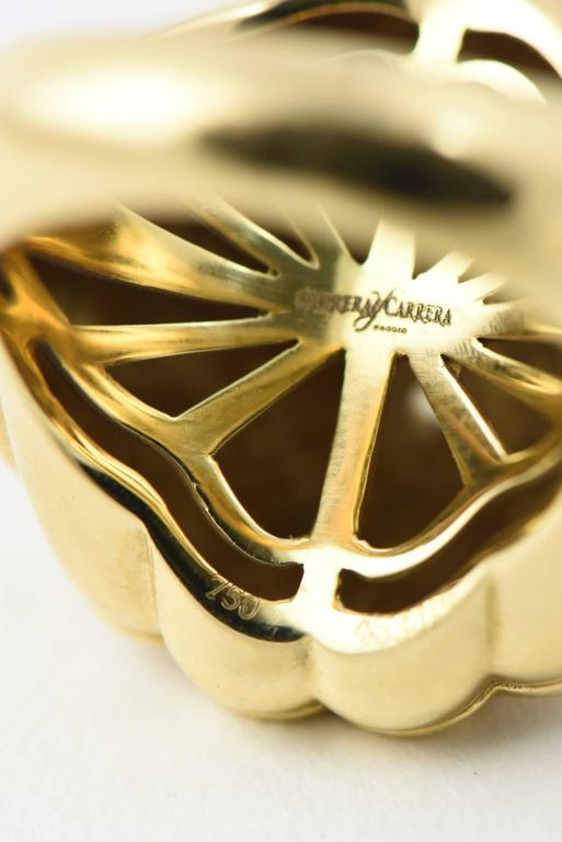 Carrera y Carrera Afrodita Diamond & Gold Flower Cocktail Ring For Sale 4