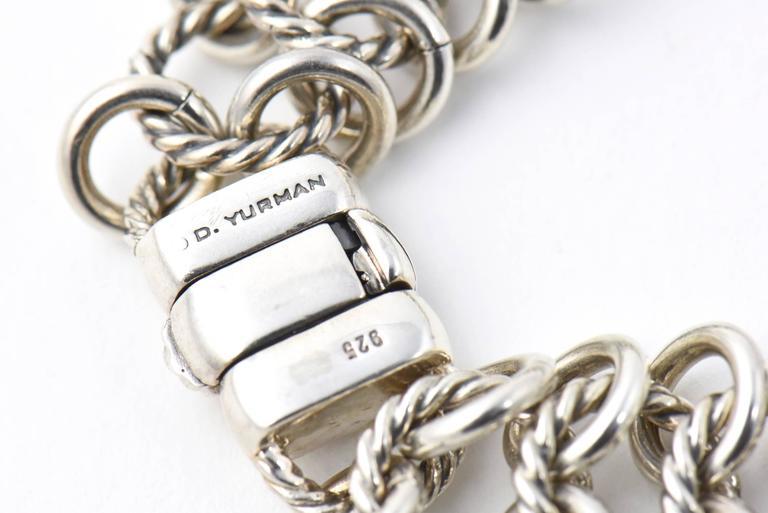 David Yurman Prasiolite Quartz Sterling Gold Woven Cable Link Necklace 8