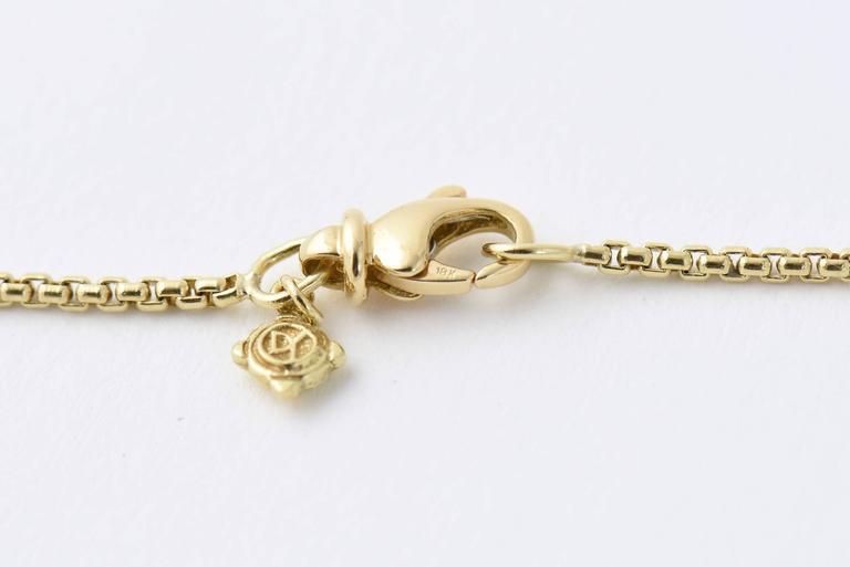 David Yurman Citrine Diamond Pendant Gold Necklace For Sale 1